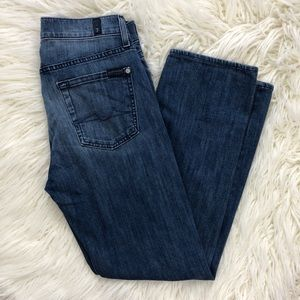 7 FOR ALL MANKIND slimmy luxe straight jeans 30